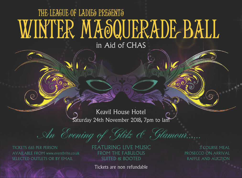 61e6c78c7842 ... are delighted to announce that the tickets for their Winter Masquerade  Ball are now available! The event will take place on Saturday 24th November  2018 ...