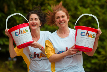Volunteers with collection buckets